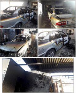 آتش سوزی خودرو در نجف آباد
