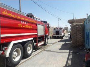 آتش سوزی در کارگاه چوب بری نهضت آباد