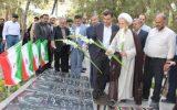 مراسم عطرافشانی و غبار روبی مزار شهدا در آستانه هفته دولت + تصاویر