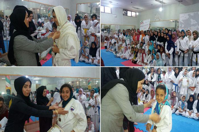 مسابقات کاراته بانوان شهرستان نجف آباد