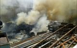 آتش سوزی بزرگ در شهرک صنعتی منتظریه نجف آباد