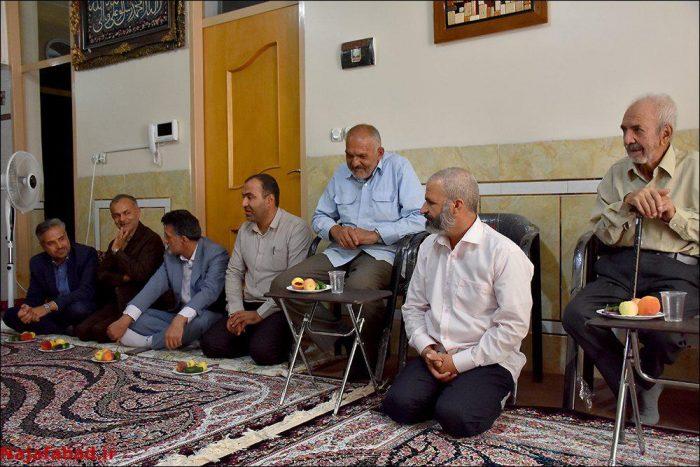 دیدار مسئولین با پدر گرامی شهید حججی