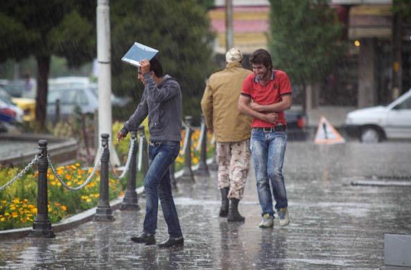 بیشترین بارش باران در نجف آباد