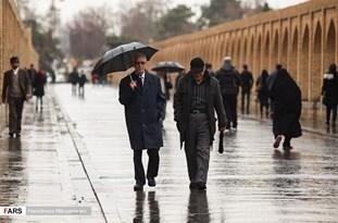 تداوم سردی هوا و بارش رحمت الهی بر سر اصفهانیها