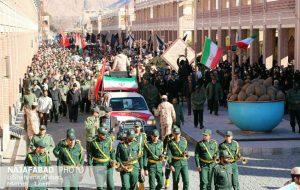 تشییع سه پاسدار شهید در نجف آباد + تصاویر